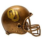 Oklahoma Sooners Wild Sports Mini Bronze Helmet Statue