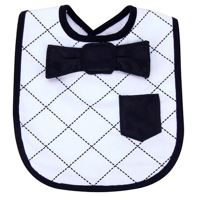 Trend Lab Dress Up Bowtie Bib - Black/White