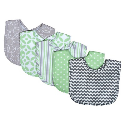 Trend Lab Lauren 5 Pack Bib Gift Set - Green