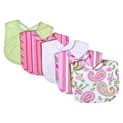 Trend Lab Paisley 5 Pack Bib Gift Set - Pink