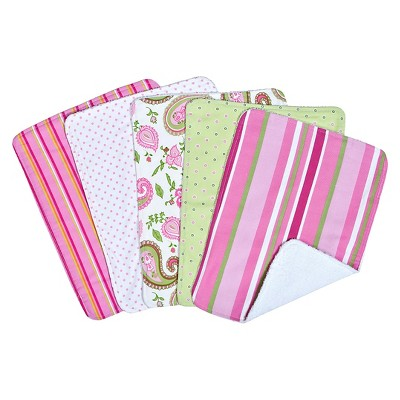 Trend Lab 5 Pack Burp Cloth Gift Set - Paisley