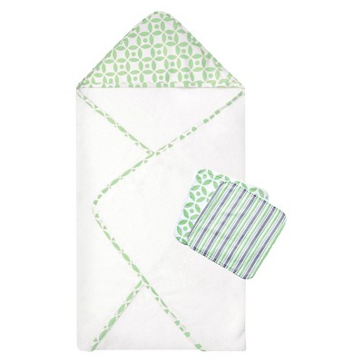 Hooded Bath Towels Trend Lab Green
