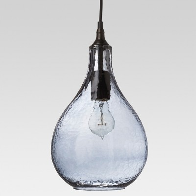 Artisan Glass Tear Drop Pendant - Indigo - Threshold™