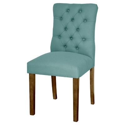 Brookline Tufted Dining Chair Aqua Blue (1 Pack) - Threshold™
