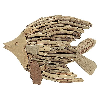 Driftwood Angel Fish Wall Décor