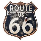 Route 66 Wall Decor with 11 Hooks