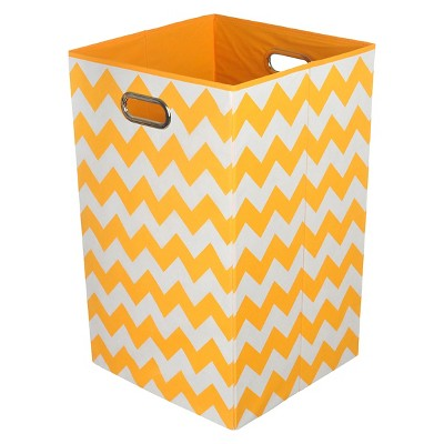 Modern Littles Chevron Folding Laundry Basket - Orange