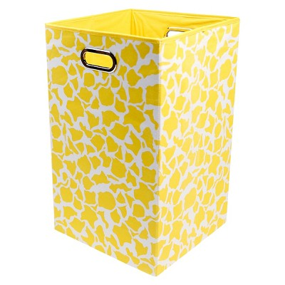 Modern Littles Giraffe Folding Laundry Basket - Yellow