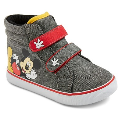 Toddler Boys' Mickey Mouse High Top Sneakers - Grey 9