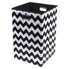 Modern Littles Chevron Laundry Basket - Black