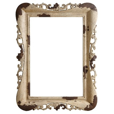 Molded Resin Frame - Distressed Cream