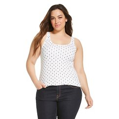 Women's Plus Size Favorite Tank Fresh White - Merona™