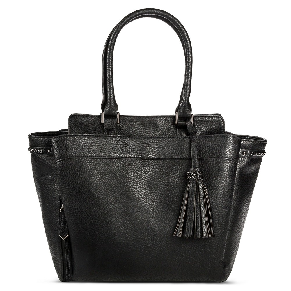 Women's Sam & Libby Shoe Tote Handbag Black