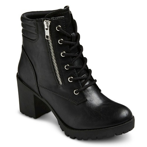 Women's Mossimo Supply Co Easton Chunky Heel Combat Boots
