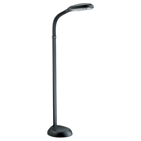 verilux natural spectrum deluxe floor lamp graphite product details. Black Bedroom Furniture Sets. Home Design Ideas