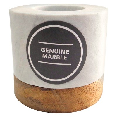 Threshold Marble Pillar Candle Holder - Medium