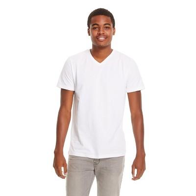 Men's V-Neck T-Shirt White - Mossimo Supply Co. L