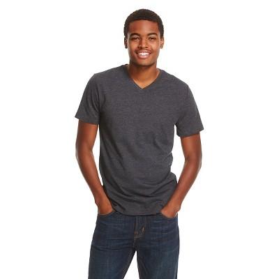 Men's V-Neck T-Shirt Gray - Mossimo Supply Co. L