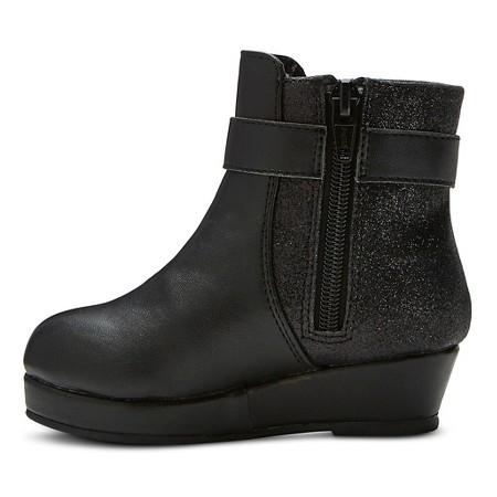 toddler cherokee kyri wedge boots black target