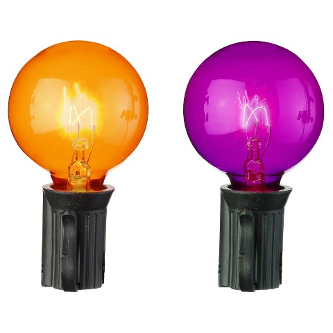 Halloween Globe String Lights : Halloween Globe Lights Orange/Purple 25Ct : Target