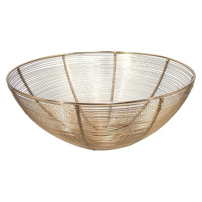 Threshold Metal Wire Bowl Large Gold