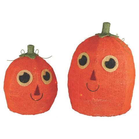 Halloween Lit Sisal Pumpkins 2Ct : Target