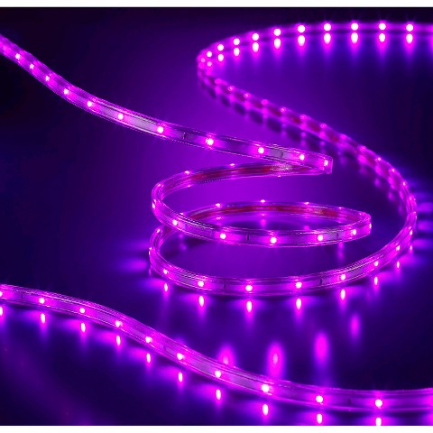 Purple String Lights Black Cord : Philips Flat Rope Lights Purple - 15ft : Target