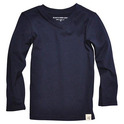 Burt's Bees Baby™ Newborn Boys' Long Sleeve V-Neck Tee - Midnight 18 M