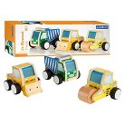 Guidecraft Toy Vehicles Jr. Plywood Construction Trucks