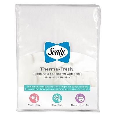 Sealy Therma-Fresh Cooling Crib Sheet - White