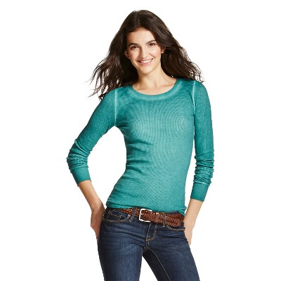 Women's Core Thermal Long Sleeve Woodsy Green XL - Mossimo Supply Co. (Junior's)