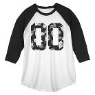 Men's Double Zeroes 3/4 Sleeve T-Shirt - Black/White S