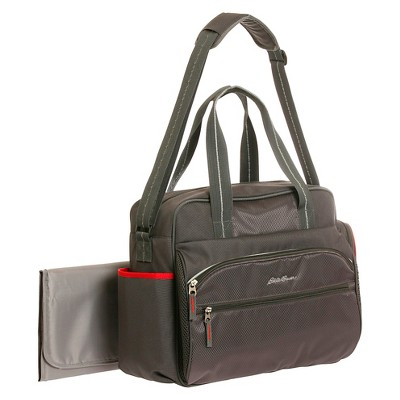 Eddie Bauer First Adventure Ashland Sport Duffle Diaper Bag - Grey/Red