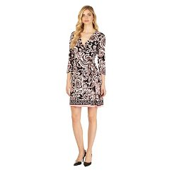 Women's Printed Faux Wrap Dress - Sami & Dani