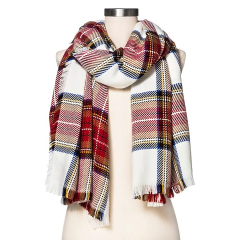 s cozy plaid blanket wrap scarf white re target