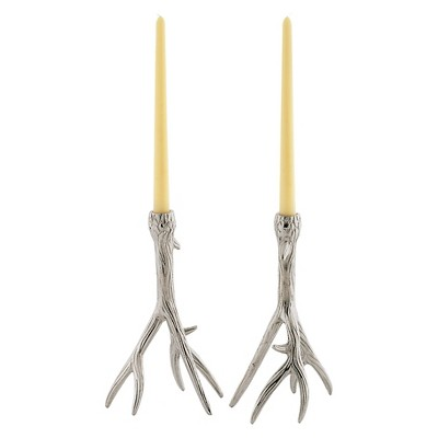 Go Home Outback Candleholder - Set of 2 - Chrome