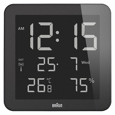 Decorative Casual Clock - Black