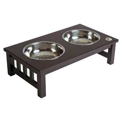 Ethan Pets Barrett Dog Feeder with PU Coating - Brown (Large)