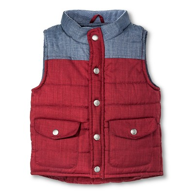 Male outerwear vests Cherokee 3T berry purple