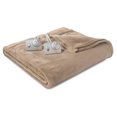 Biddeford Microplush Heated Blanket - Taupe (King)