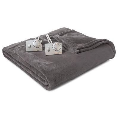 Biddeford Microplush Heated Blanket - Gray (Queen)