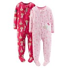 Just One You™ Made by Carter's® Baby Girls' 2-Pack Fleece Footed Sleepers - Pink Buds