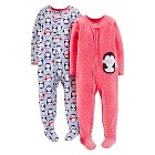 Just One You™ Made by Carter's® Baby Girls' 2-Pack Fleece Footed Sleepers - Pink Lavender