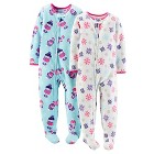Just One You™ Made by Carter's® Baby Girls' 2-Pack Fleece Footed Sleepers - Enchanted Purple