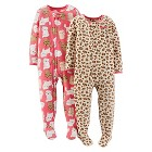 Just One You™ Made by Carter's® Baby Girls' 2-Pack Fleece Footed Sleepers - Coral Pink