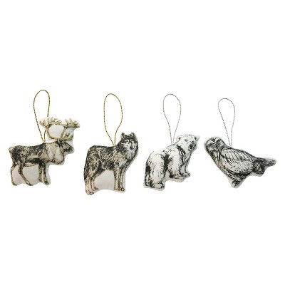 Printed Animal Ornament Assorted