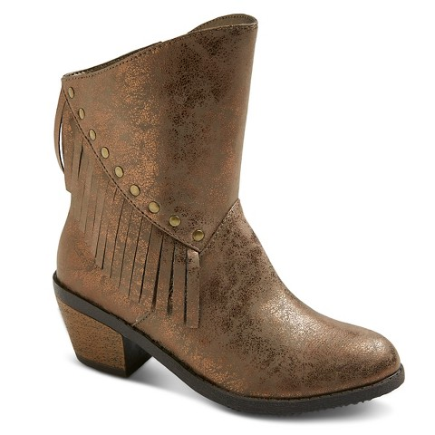 stevies fringefestival cowboy boots bronze