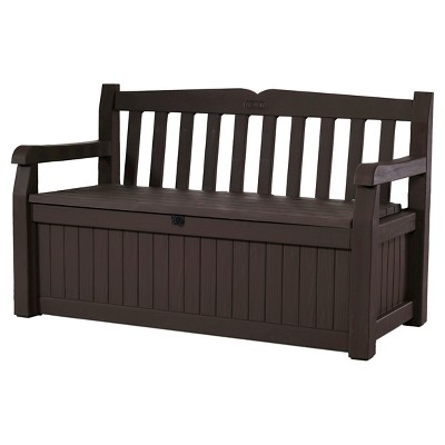 Keter Eden Garden Storage Bench - Brown