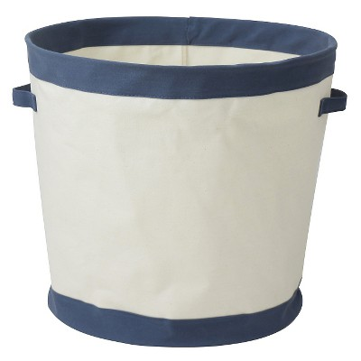 Collapsible Canvas Floor Bin Round Navy - Pillowfort™