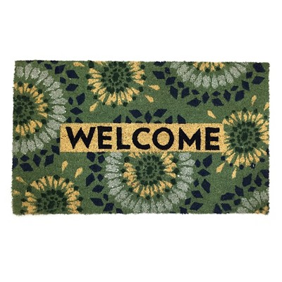 TH Blue Welcome Medallion Doormat